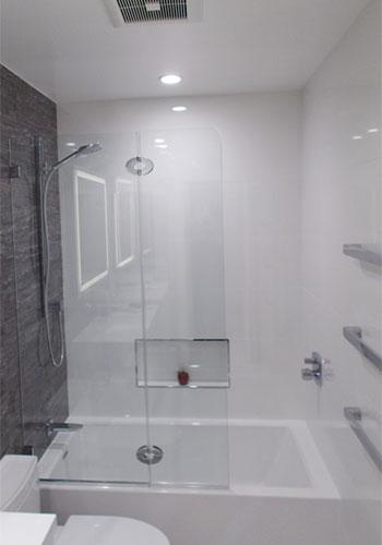 Frameless Glass Splash Guard Installation Riverside, CA.