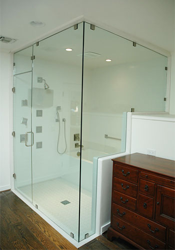 Frameless Shower Enclosure Huntington Beach