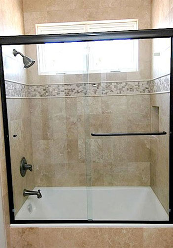 Semi-Frameless Glass Shower Door Installation, Brea, CA.