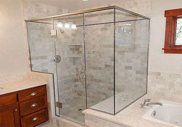 Custom Semi-Frameless Shower Enclosure Santa Ana, CA.