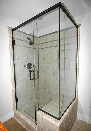 Semi-Frameless Glass Shower Enclosure Installation Anaheim, CA.