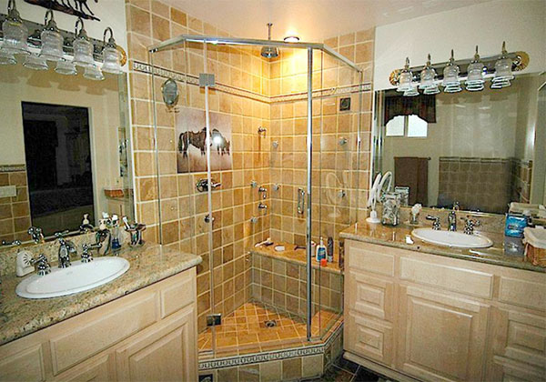 Semi-frameless glass shower enclosure Norco, CA