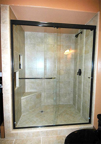 Semi-Frameless Glass Shower Door