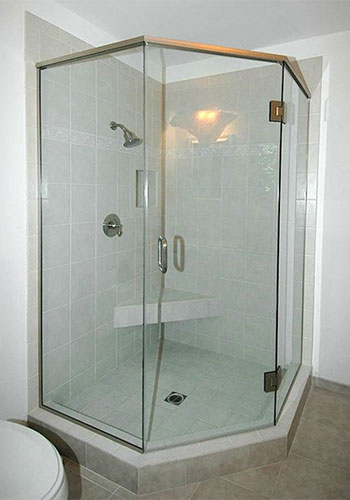 Semi-Frameless Glass Shower Enclosure Installation Fountain Valley, CA.