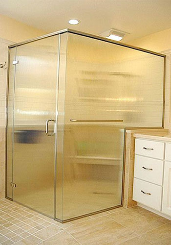 Custom Semi-Frameless Shower Enclosure Anaheim CA.