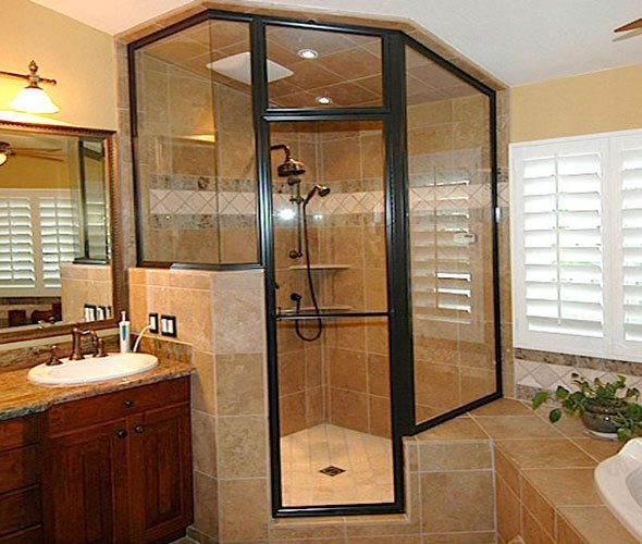 Framed Heavy Glass Shower Door Huntington Beach